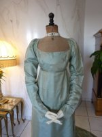 1 antique silk dress 1800