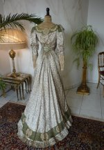 38 antique recpetion gown 1904