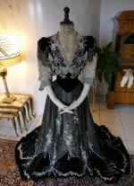 26antique Gustave Beer gown 1906