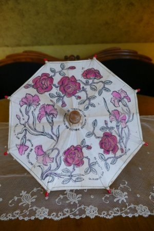 antique doll Umbrella 1929
