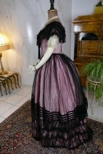 18 antique crinoline ball gown 1855