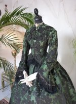 8 antique reception gown 1856