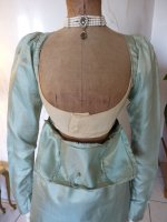 39 antique silk dress 1800