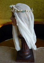 8 antique wax tiara 1920