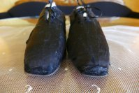 3 antique slippers 1850