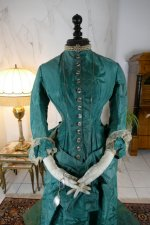 3 antique princess Bustle dress 1878
