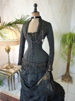3 antique mourning dress 1879