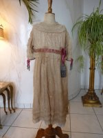 2 antique girls dress 1905