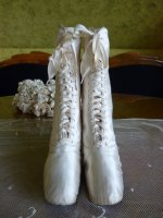 1 antique wedding shoes 1875