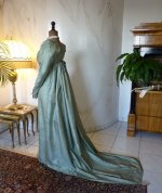 17 antique silk dress 1800