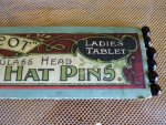 3 antique hat pin 1900