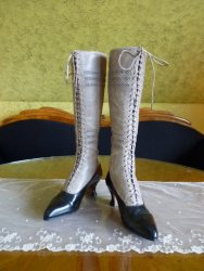 antique knee boots 1905