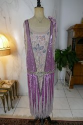 antique flapper evening dress 1925