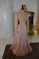 4 antique Rousset Paris society dress 1899