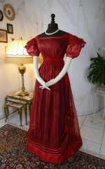 9 antique gauze dress 1828