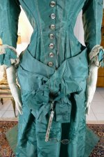 9 antique princess Bustle dress 1878