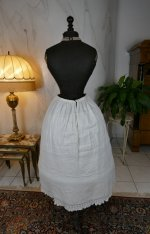 11 antique Biedermeier Petticoat 1840