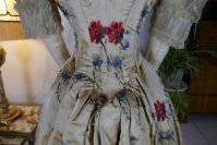 18 antique LEROUX Ball gown 1890