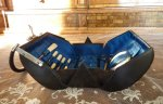 11 antique corset sewing tool bag