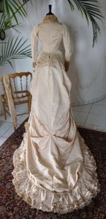 35 antique bustle gown