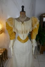 3 antique evening dress 1895