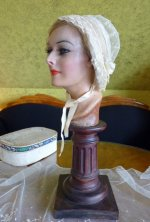 9 antique wedding bonnet 1840