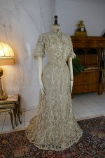 15a antique ALTMANN Battenburg lace dress 1904