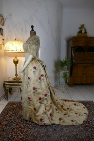 antique LEROUX Ball gown 1890