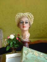 2 antique wax wedding tiara