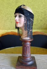 6 antique flapper headpice 1920