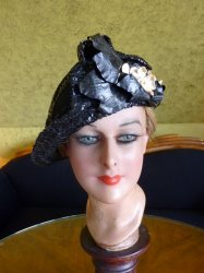 antique Jean Patou Hat 1920