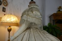 17 antique ball gown 1859