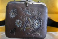 2 antique leather bag 1906