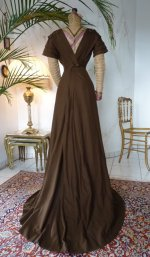 Art Noveau Dress, Art Nouveau Gown, antique gown, antique dress, Dress 1910, gown 1910, antique cashmere gown, antique afternoon dress, abito antico, antique reception dress, antique dinner dress
