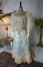 2 antique evening gown Worth 1894