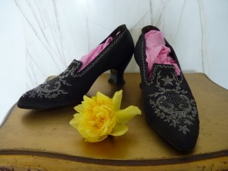 antique shoes, shoes 1900, victorian shoes, shoes 1895, 1900, antique dress