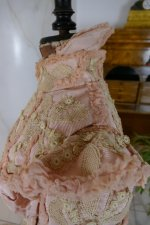 19 antique Rousset Paris society dress 1899