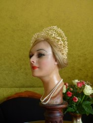 antique wax wedding tiara