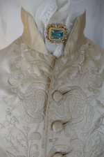 1 antique rococo wedding coat 1740