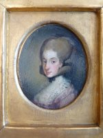 4 antique miniature portrait 1770