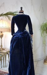 34 antique bustle dress 1878