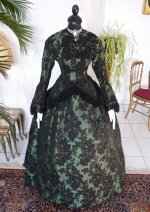 2 antique reception gown 1856