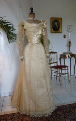 8 antique evening gown JEANNE HALLE 1899