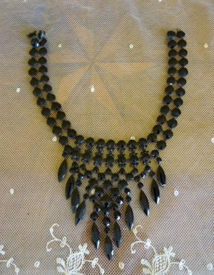 Victorian Necklace Mourning Jewellery 1850