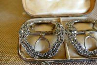 3 antique shoe buckles 1770
