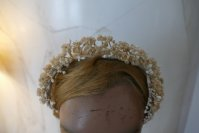 3 antique wax head piece 1920
