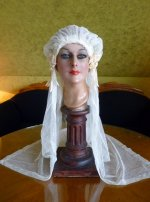 2 antique wedding cap veil 1920