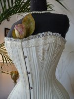 4 antique bridal corset