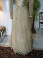 9 antique evening gown JEANNE HALLE 1899
