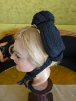 5 antique mourning bonnet